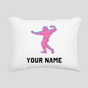 Bodybuilder Rectangular Canvas Pillow