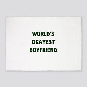 World's Okayest Boyfriend 5'x7'Area Rug
