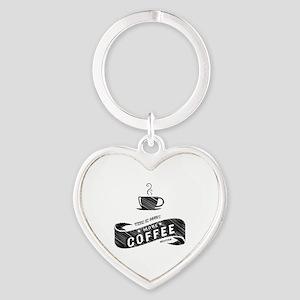 More Coffee (DARK) Heart Keychain