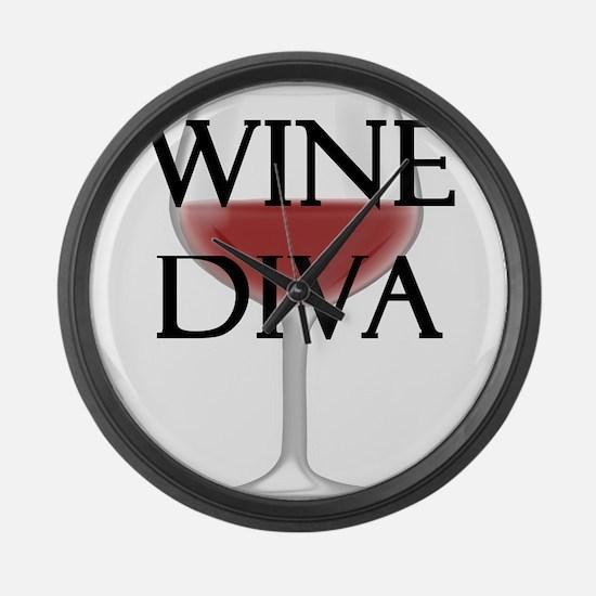 Wine Diva Large Wall Clock