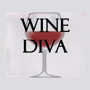 Wine Diva Throw Blanket