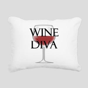 Wine Diva Rectangular Canvas Pillow