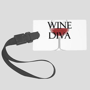 Wine Diva Large Luggage Tag