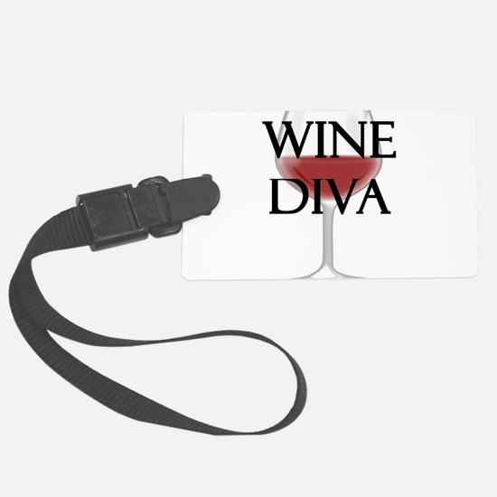 Wine Diva Luggage Tag