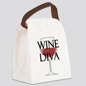 Wine Diva Canvas Lunch Bag