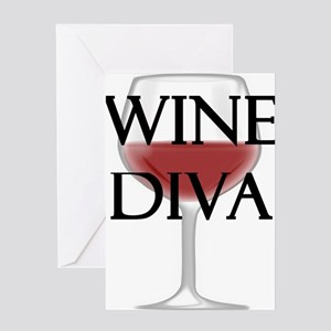 Wine Diva Greeting Cards