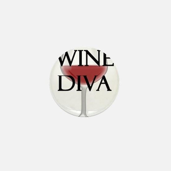 Wine Diva Mini Button