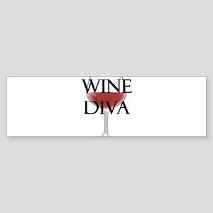 Wine Diva Bumper Sticker