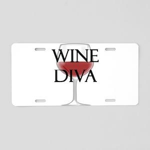 Wine Diva Aluminum License Plate