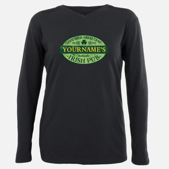 Custom Irish Pub Vintage Plus Size Long Sleeve Tee