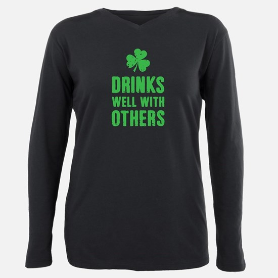 Unique St patricks day Plus Size Long Sleeve Tee