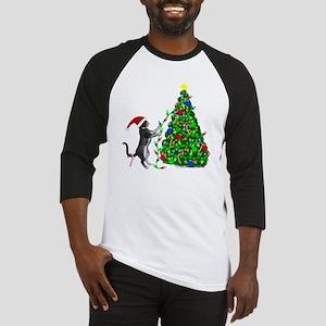 Christmas Kitty Cat Baseball Jersey