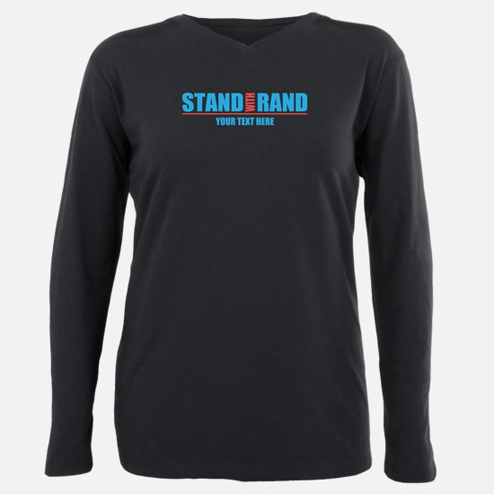 Personalized Stand With Rand Plus Size Long Sleeve