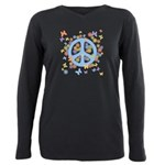 peace_n_buts2 Plus Size Long Sleeve Tee