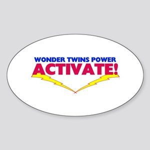 Wonder Twins Oval Sticker