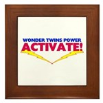 Wonder Twins Framed Tile