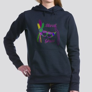 Mardi Gras Mask And Bead Women's Hooded Sweatshirt