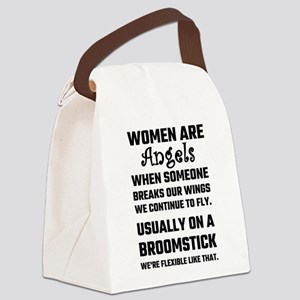 Women Are Angels... Canvas Lunch Bag