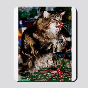 Merry Maine Coon Christmas Mousepad