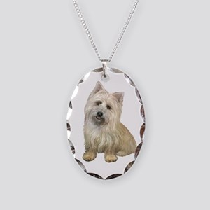 Cairn Terrier 4b Necklace Oval Charm