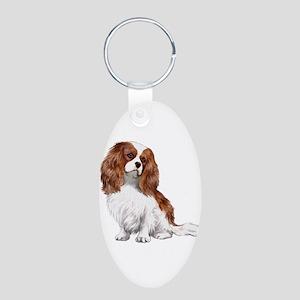 Cavalier (blenheim) Aluminum Oval Keychain