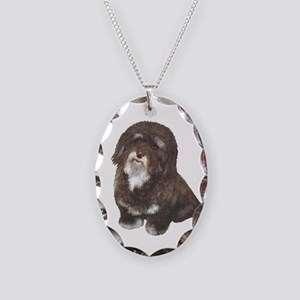 HAVANESE - Brn-blk Necklace Oval Charm