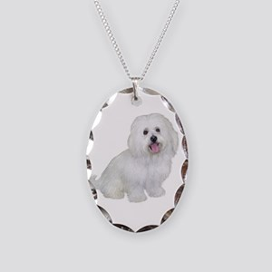 Havanese (W2) Necklace Oval Charm
