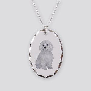 Maltese (C) Necklace Oval Charm