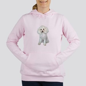 Poodle - Min White Women's Hooded Sweatshirt