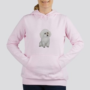 Poodle (white-toy-min) Women's Hooded Sweatshirt