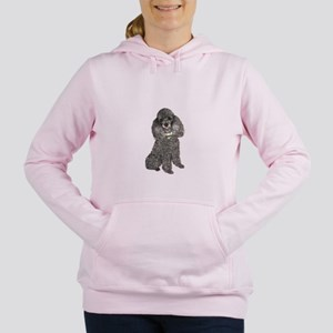 Poodle (sivler) Women's Hooded Sweatshirt