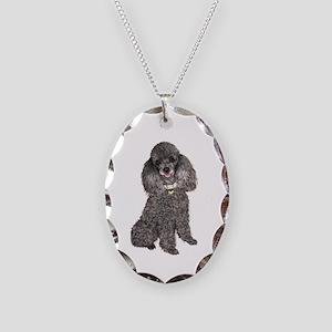 Poodle (sivler) Necklace Oval Charm