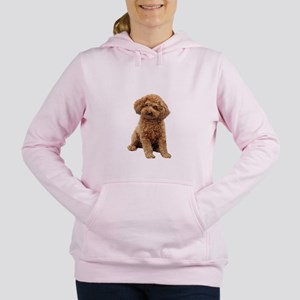 Poodle (toy-Min-Apric.) Women's Hooded Sweatshirt