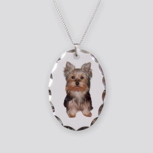 Yorkshire Terrier Puppy Necklace Oval Charm
