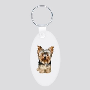 Yorkshire Terrier #17 Aluminum Oval Keychain