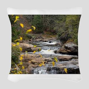 Iris Field Woven Throw Pillow