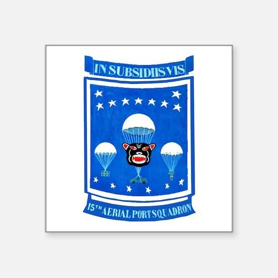 """15th Aerial Port Squadron Square Sticker 3"""" x 3"""""""