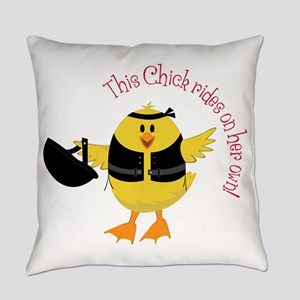 This Chik Rides Everyday Pillow