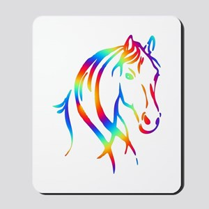 Colorful Horse Head Mousepad