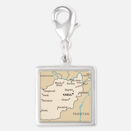 Afghanistan Map Charms