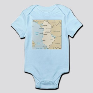 Albanian Map Body Suit