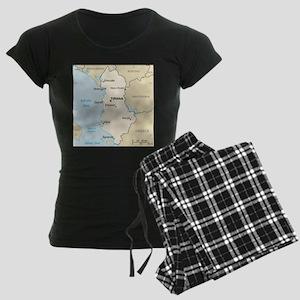 Albanian Map Women's Dark Pajamas