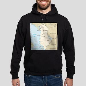 Albanian Map Hoodie (dark)