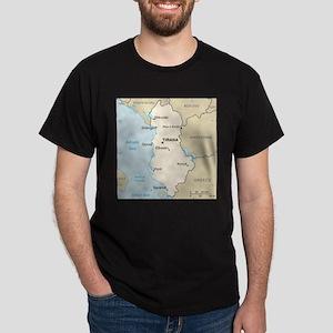 Albanian Map T-Shirt