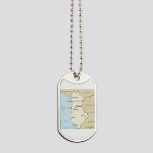 Albanian Map Dog Tags