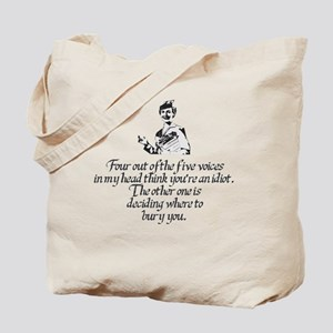 Voices In My Head Tote Bag