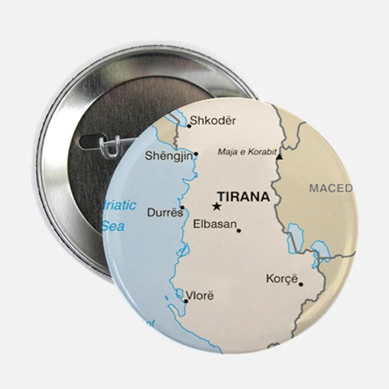 "Albanian Map 2.25"" Button (10 pack)"