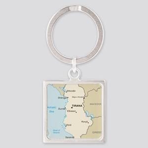Albanian Map Keychains