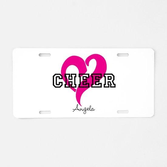 Love Cheer Heart Aluminum License Plate