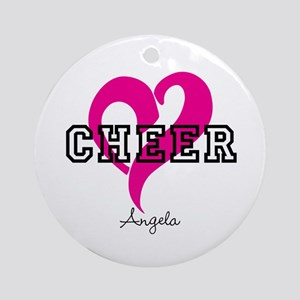 Love Cheer Heart Round Ornament